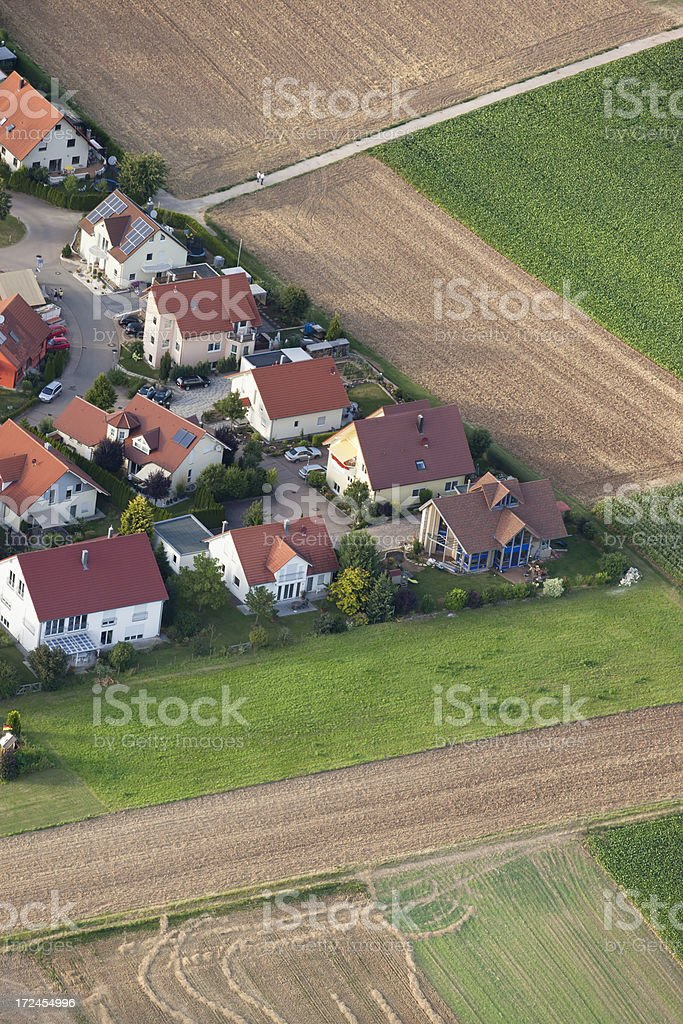 Aerial view of village in Germany royalty-free stock photo