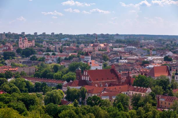 Aerial view of Vilnius stock photo