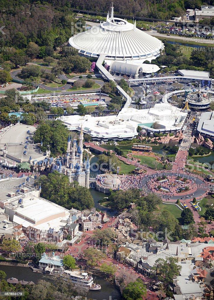 Aerial View Of Walt Disney Worlds Magic Kingdom Stock Photo