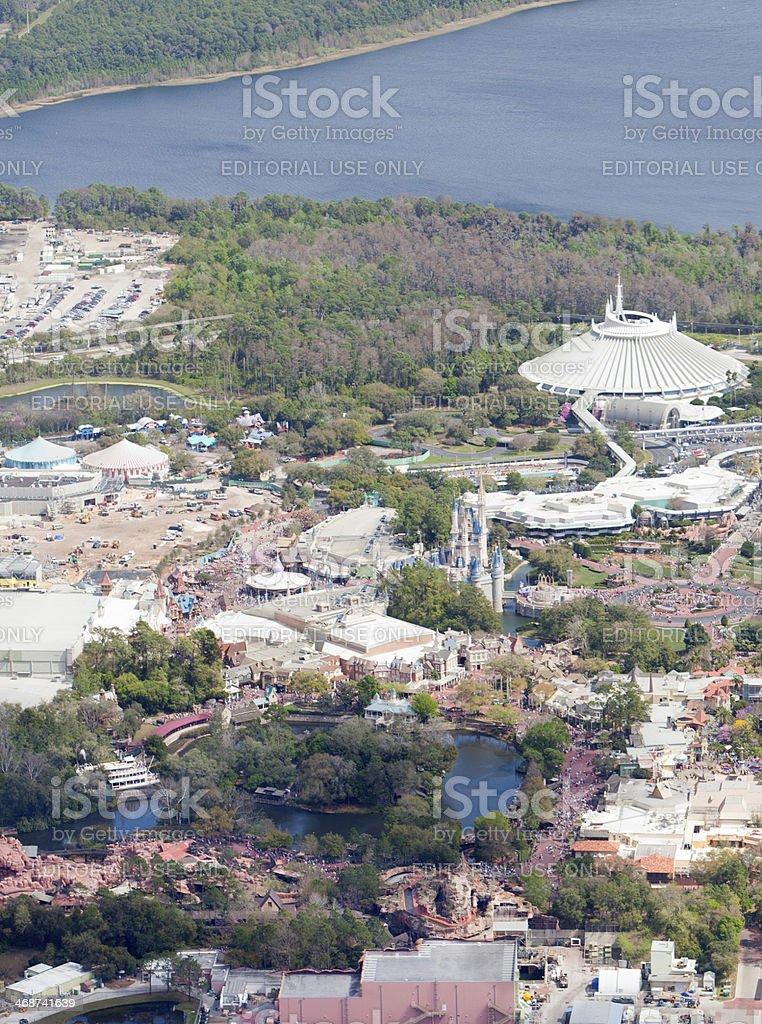 Luftbild Von Walt Disney Worlds Magic Kingdom Stockfoto Und Mehr