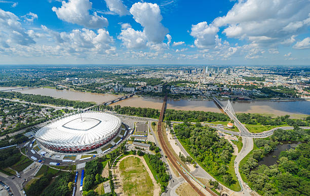 Luftbild von Warschau, Polen – Foto