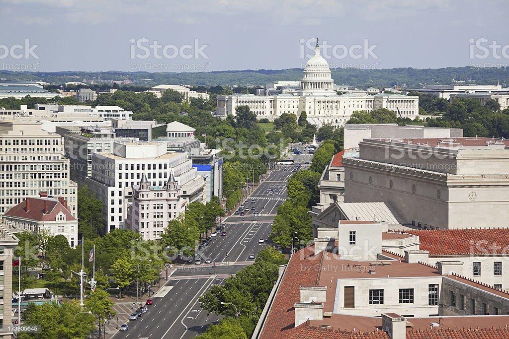 Aerial view of Washington DC # 1 XXXL royalty-free stock photo
