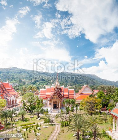 Aerial View Of Wat Chalong In Phuket, Thailand
