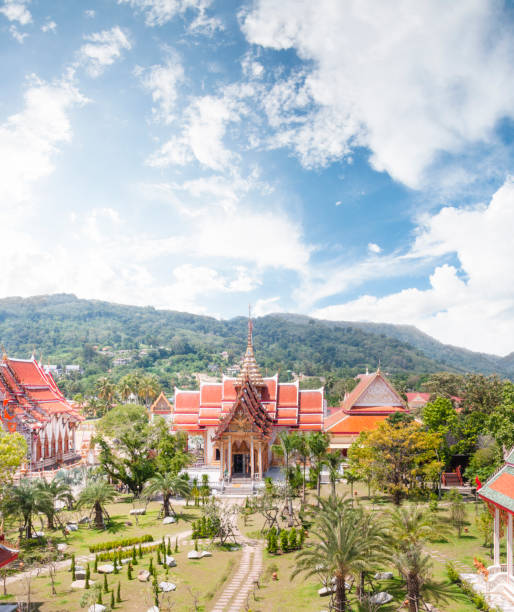 Aerial View Of Wat Chalong In Phuket, Thailand stock photo