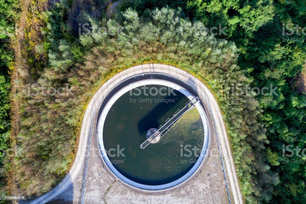 Luftbild der Kläranlage – Foto