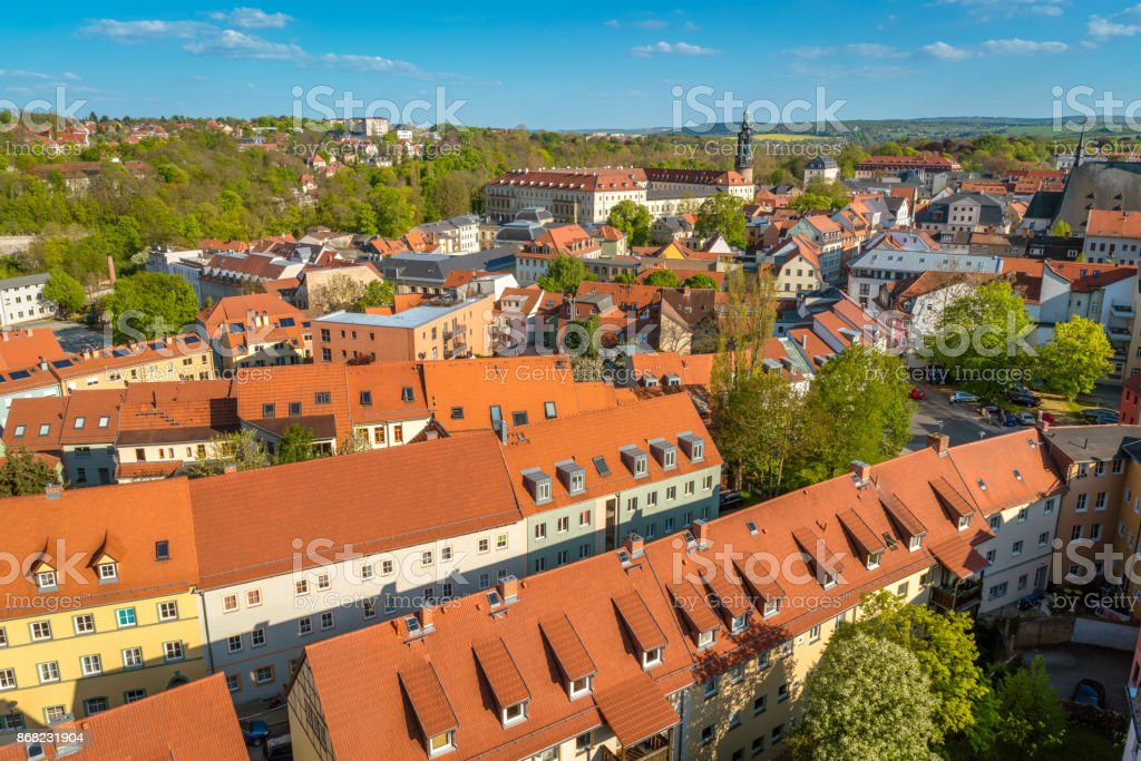 Aerial view of Weimar, Germany stock photo