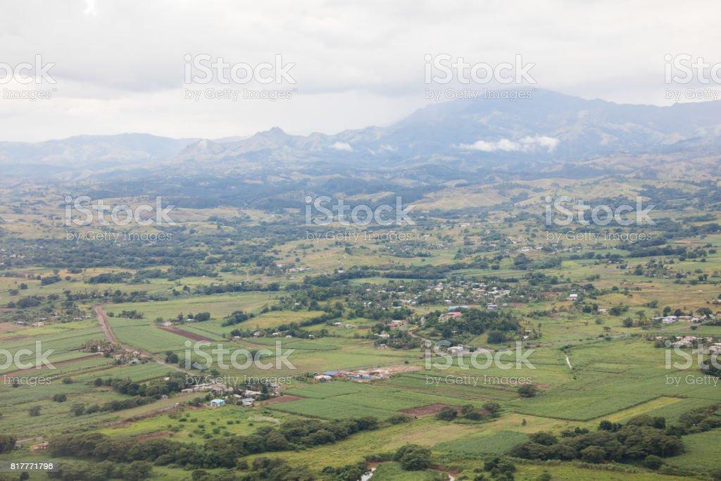 Aerial view of Westcoast on Fiji, Viti Levu stock photo