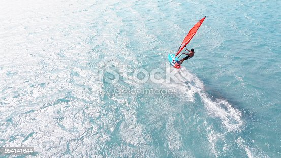 istock Aerial View of Windsurfing 954141644