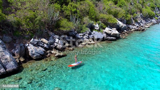 544966382istockphoto Aerial view of woman on paddleboard 544966368