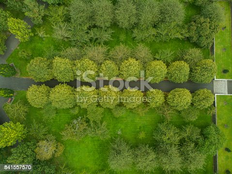831591456 istock photo Aerial view of woodlands in Dublin, Ireland. 841557570