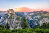 Aerial view of Yosemite national park. California, United States