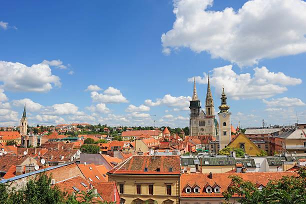 Luftbild von Zagreb city – Foto