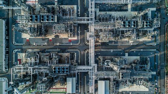 Luftbildölraffinerie Stockfoto und mehr Bilder von Ansicht von oben