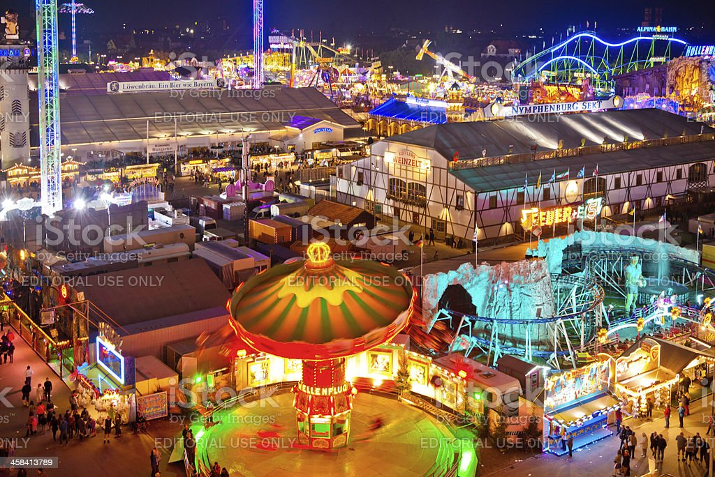 Aerial View - Oktoberfest in Munich, Germany royalty-free stock photo