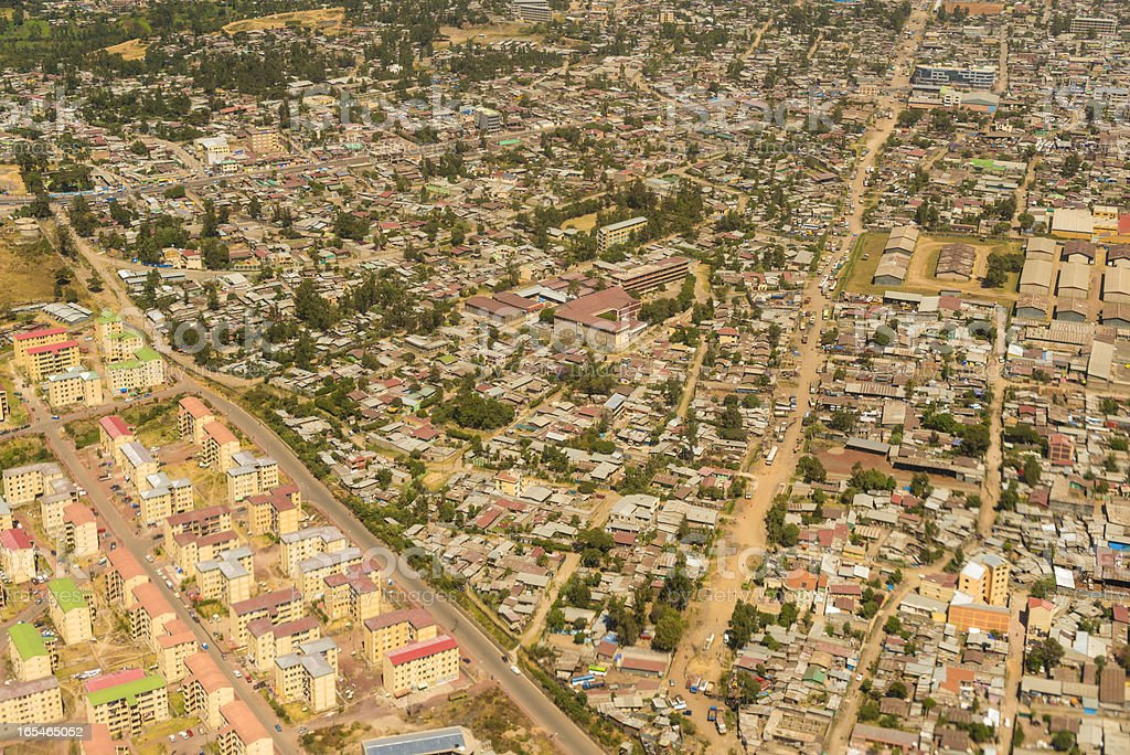 Aerial view on Addis Ababa royalty-free stock photo