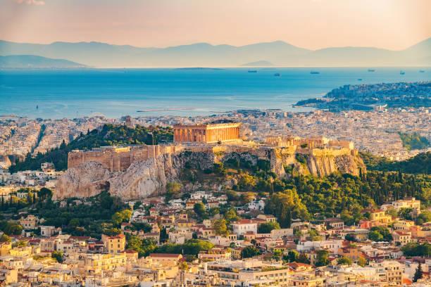 空中ビューアテネ, ギリシャ - アテネ ストックフォトと画像