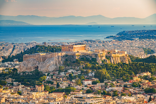 istock Aerial view on Athens, Greece 954826354