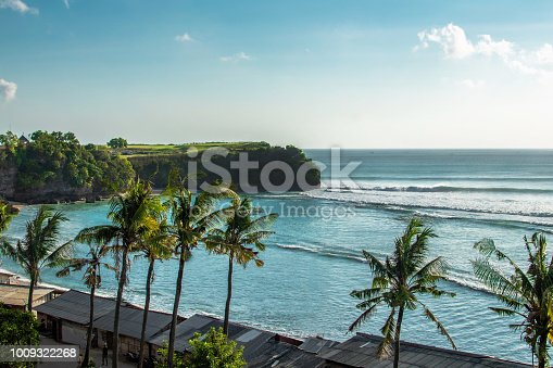 istock Aerial View on Bali Beach and waterway, INDIAN OCEAN 1009322268