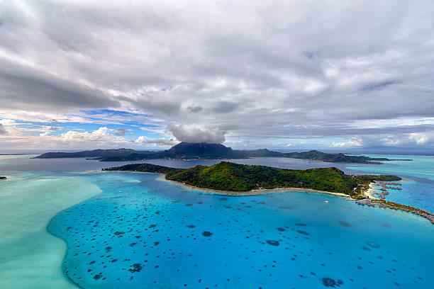 Widok z lotu ptaka na Bora Bora – zdjęcie