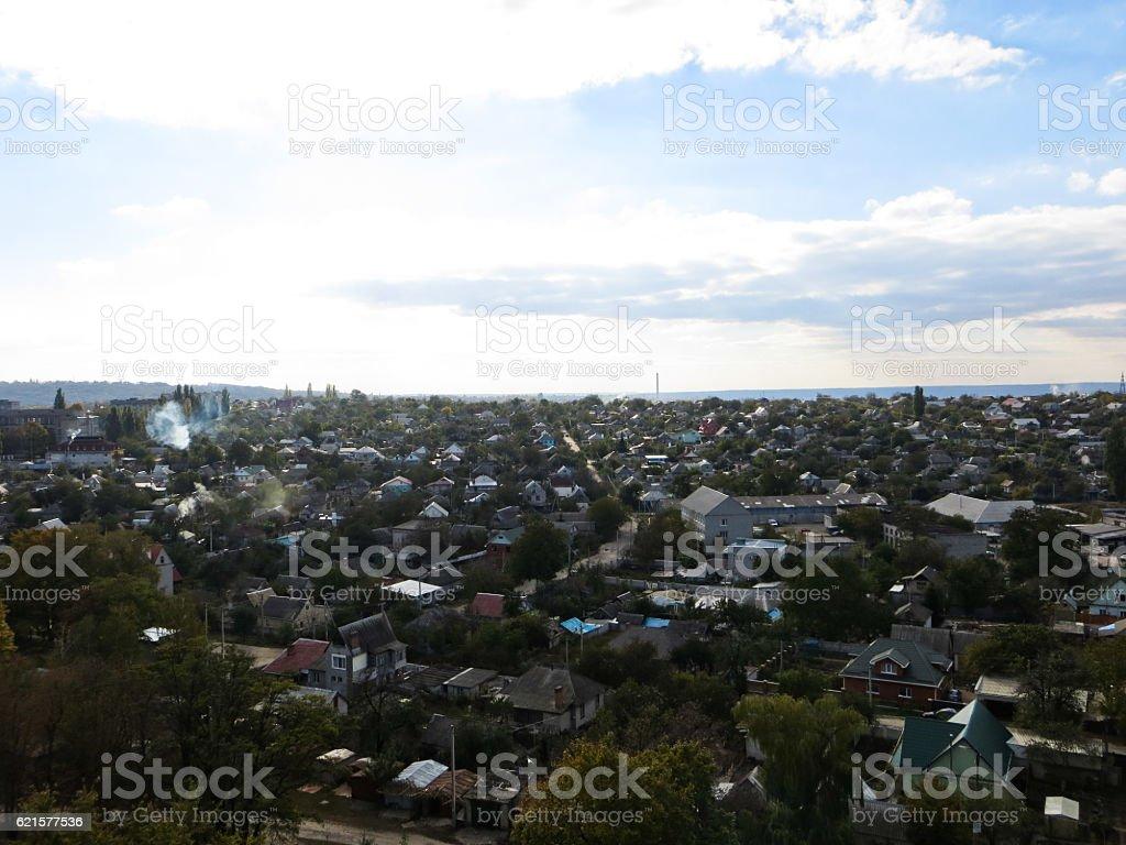 Aerial view on city Svetlovodsk, Ukraine photo libre de droits