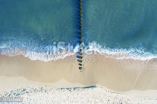 Aerial view on coast of Baltic Sea