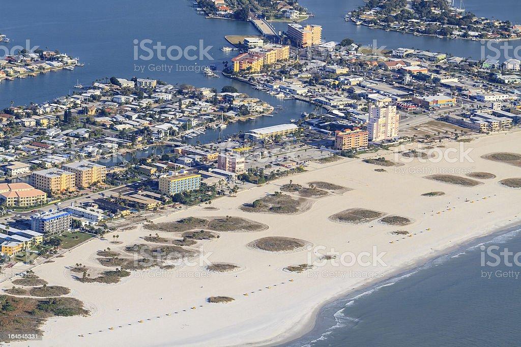 Aerial View on Florida Beach near St. Petersburg stock photo