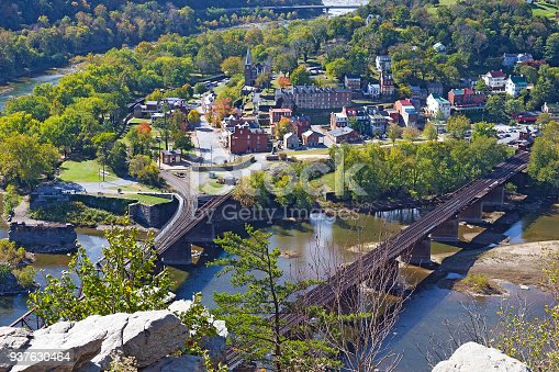 Harpers Ferry National Historical Park in West Virginia, USA.