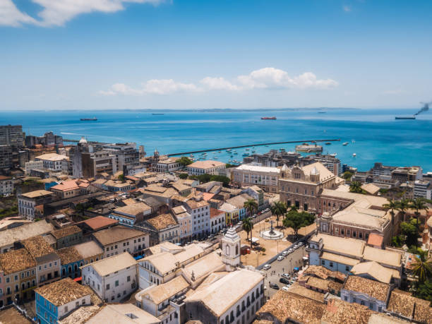 Luftbild auf historische Salvador da Bahia – Foto