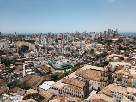 istock aerial view on historic Salvador da Bahia 1317582226
