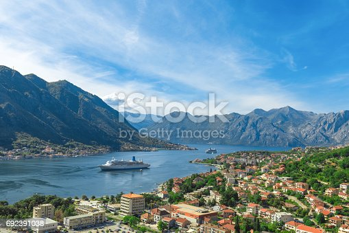 Aerial view on Kotor Bay