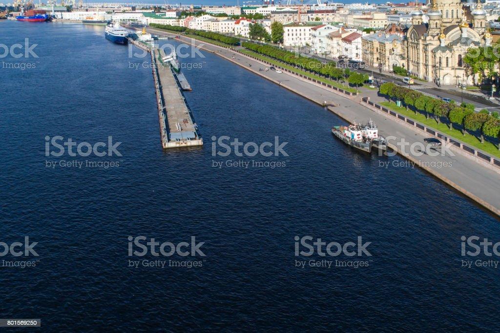 Aerial view on Lieutenant Schmidt embankment stock photo