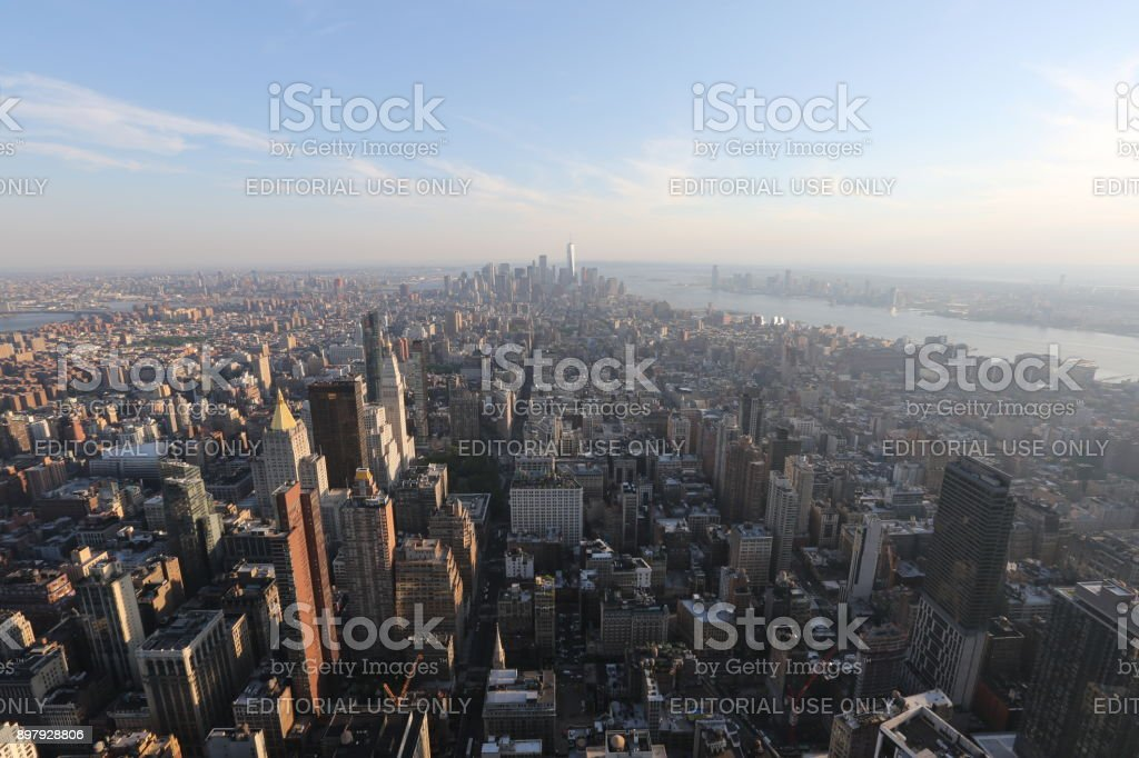 Aerial view on New York. America, New York City - May 13, 2017 stock photo