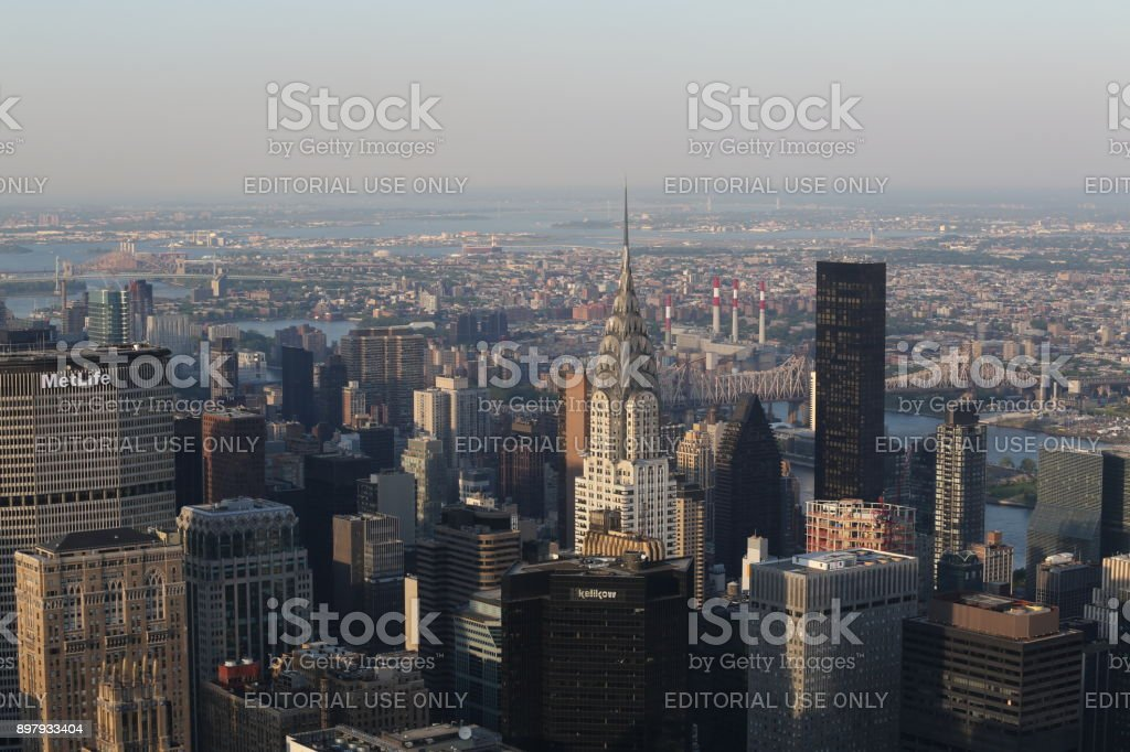 Aerial view on New York . America, New York City - May 13, 2017 stock photo