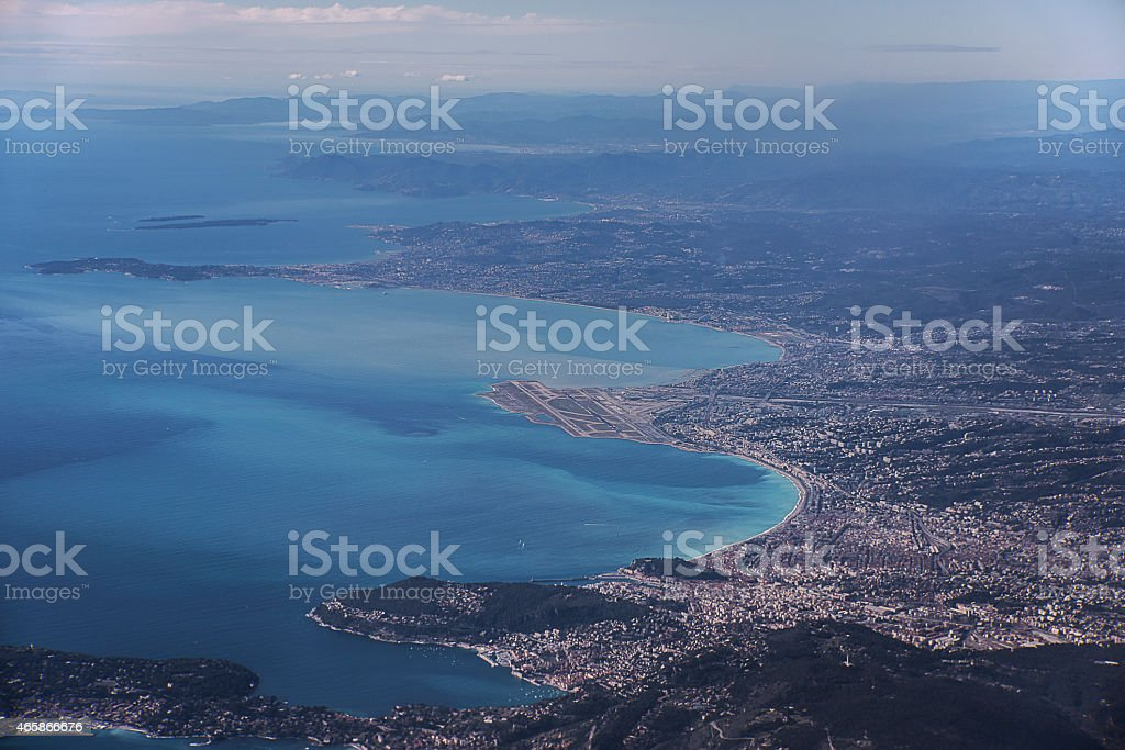 Aerial view on Nice France stock photo
