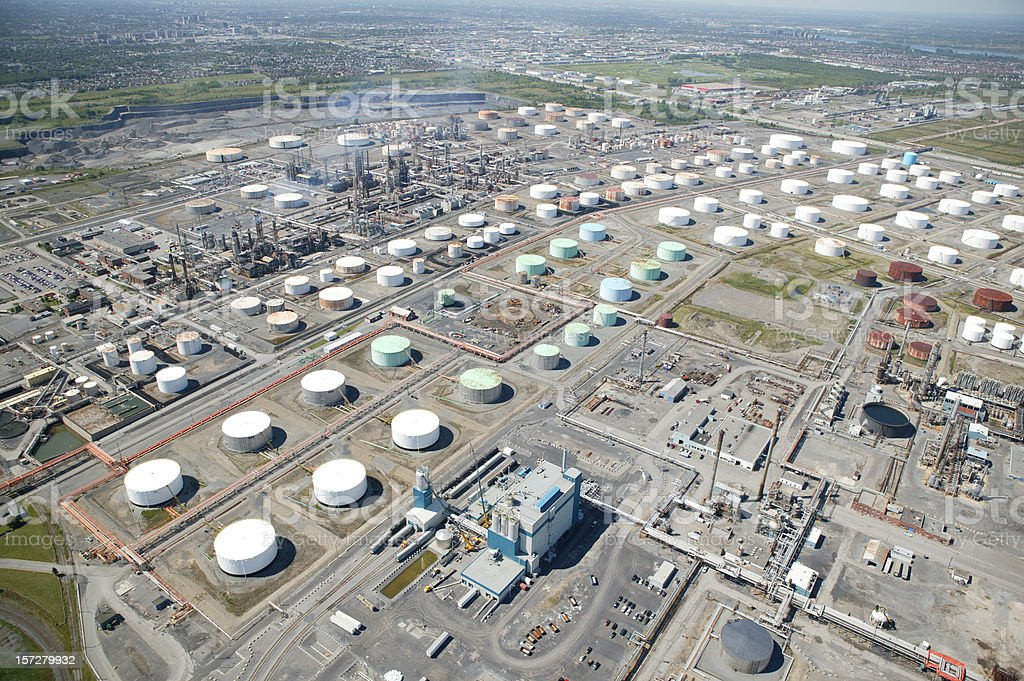 aerial view on oil tanks royalty-free stock photo