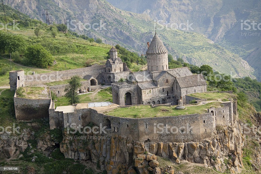 Aerial view on Tatev stock photo