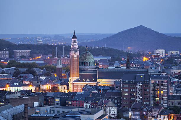 Luftansicht auf das Zentrum von Charleroi – Foto