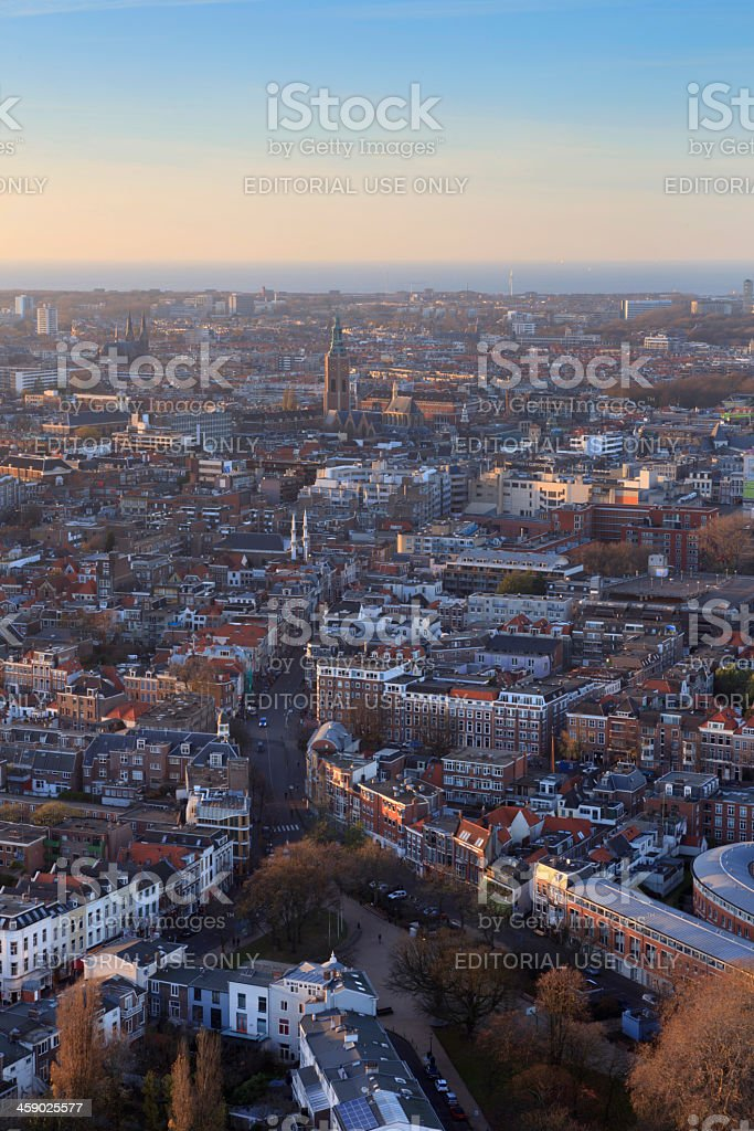 aerial view on The Hague's city centre royalty-free stock photo