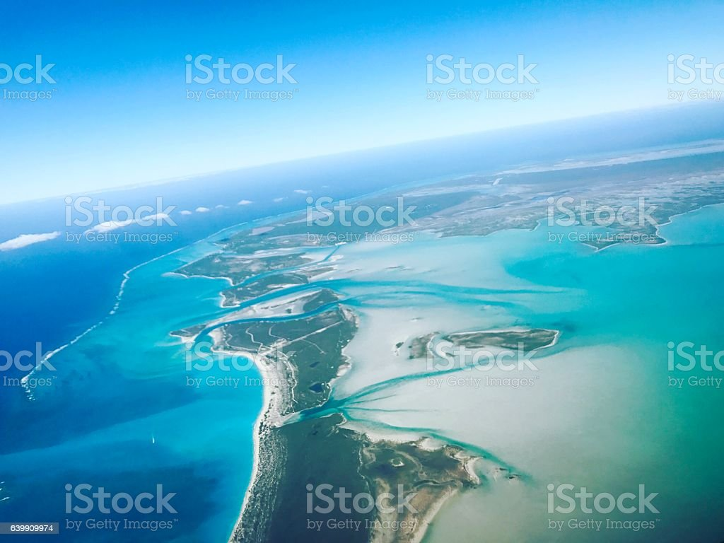 Aerial view on Turks and Caicos Islands stock photo