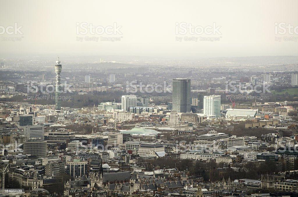 Aerial View over Bloomsbury, London stock photo