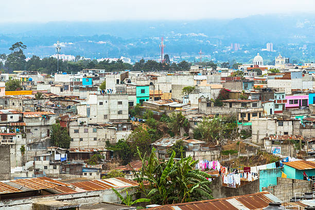 luftaufnahme über guatemala stadt - guatemala stadt stock-fotos und bilder