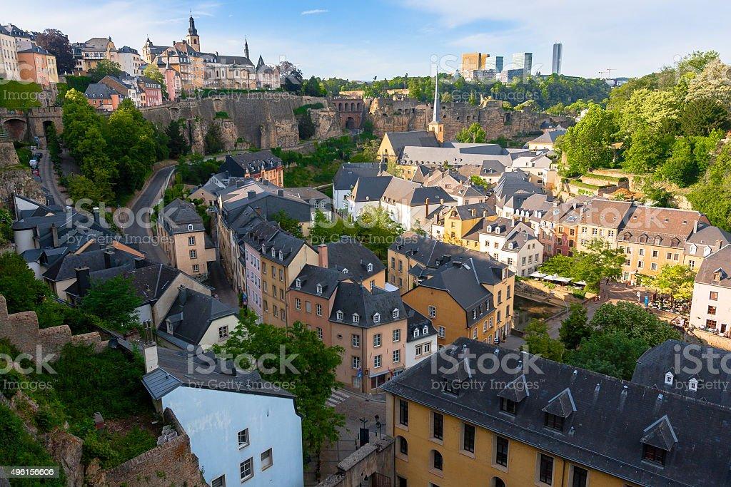 Luftaufnahme über der Stadt – Foto