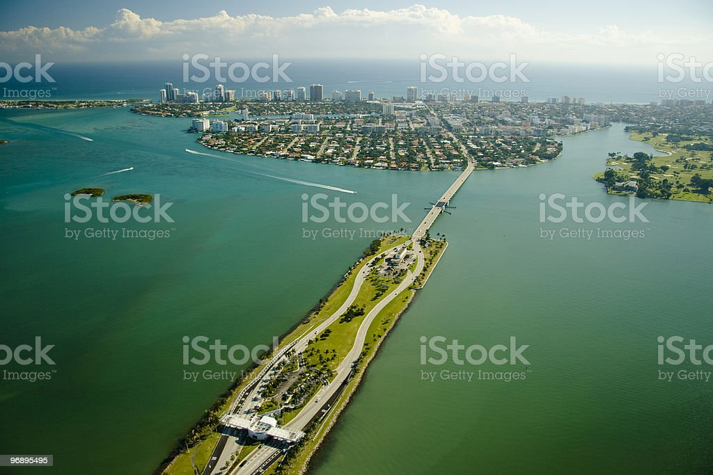 Aerial view over Miami royalty-free stock photo