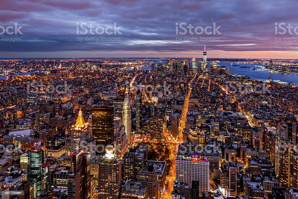 Aerial view over New York royalty-free stock photo