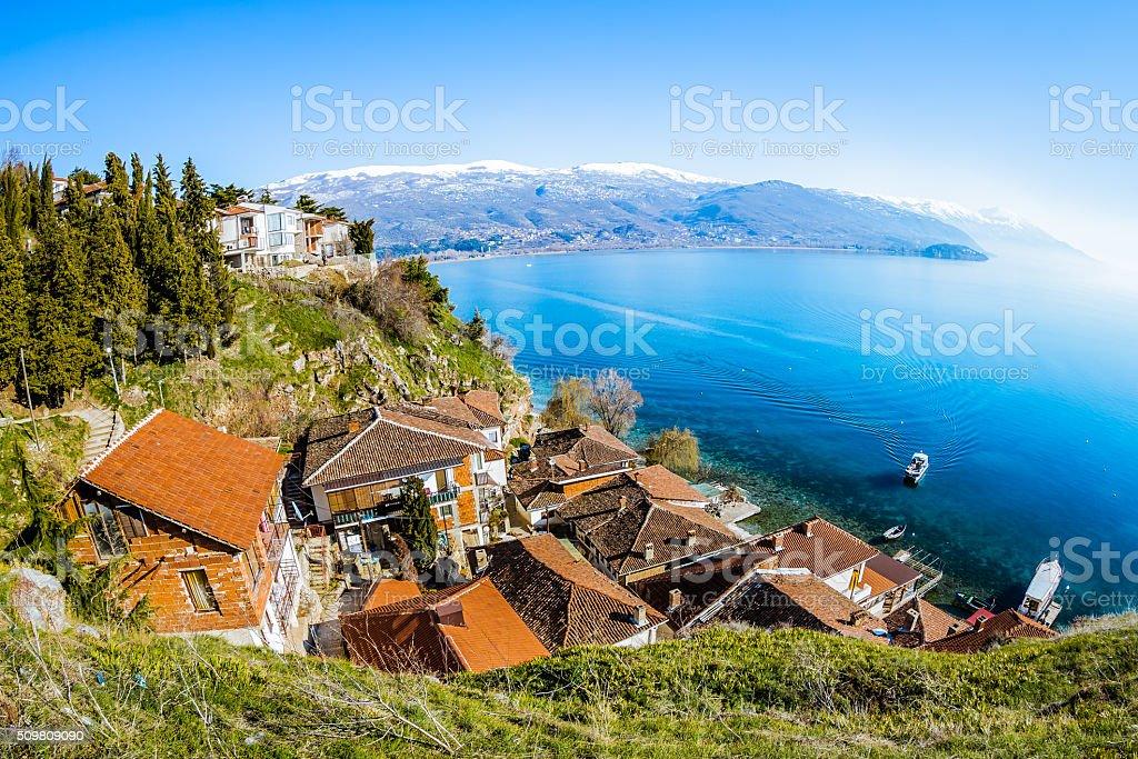 Luftaufnahme über Ohrid – Foto