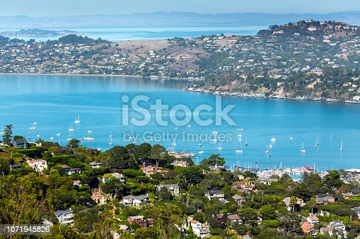 Aerial View over Sausalito and Tiburon