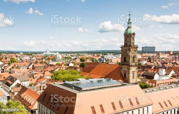 Luftaufnahme Über Der Stadt Erlangen Stockfoto und mehr Bilder von Architektur
