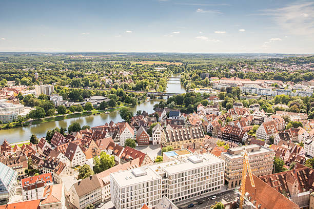 Aerial view over the city of Ulm – Foto