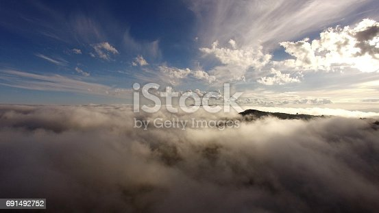 istock Aerial View over the clouds 691492752