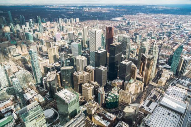 토론토의 조감도 - 토론토 온타리오 뉴스 사진 이미지
